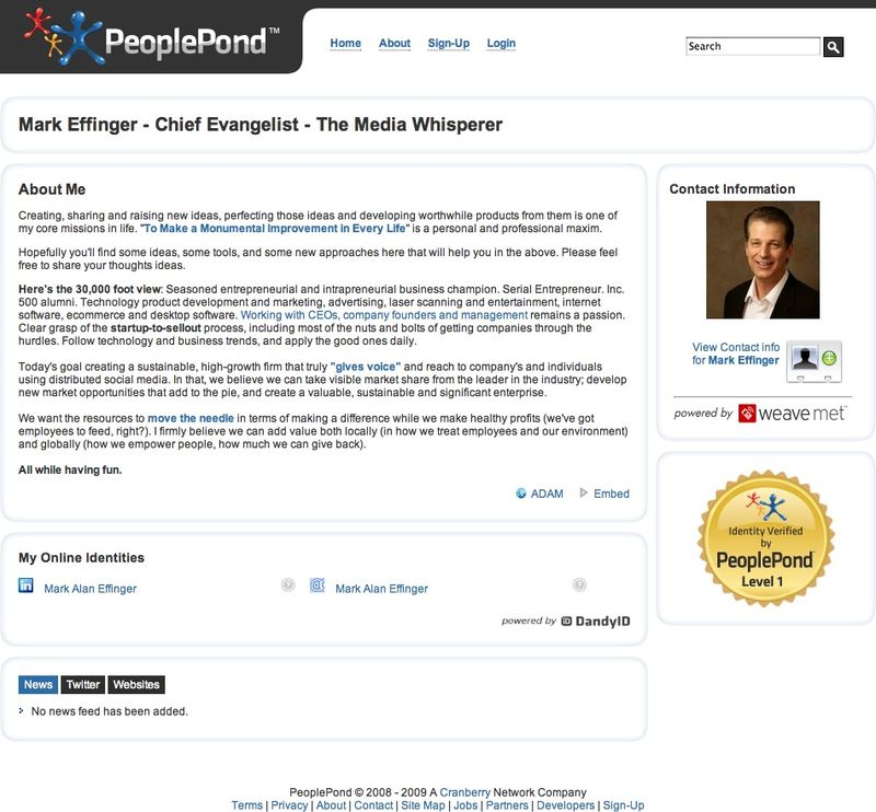 Mark Alan Effinger - PeoplePond Profile