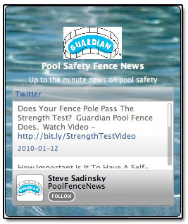 Guardian Pool Safety Fence News Widget