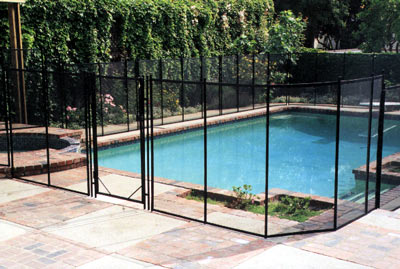 safety pool fence. \u003ccenter\u003eSafety Pool Fence Features Invisible Mesh By Guardian Safety